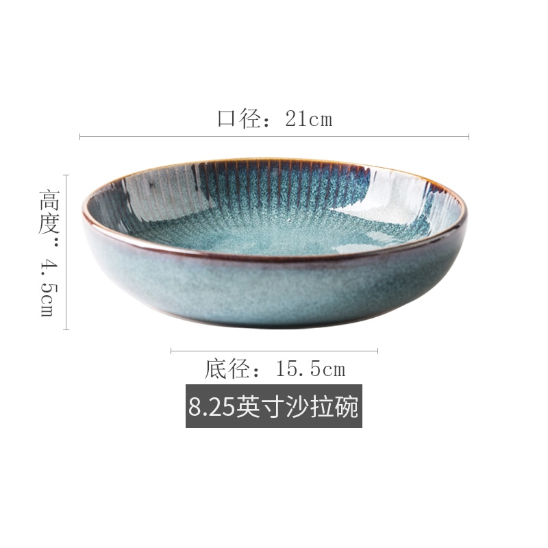 Nordic Style Ceramic Steak Western Dish China Plates Bowl Home Dishes Creative Plate Fruit Dish Dessert Tableware