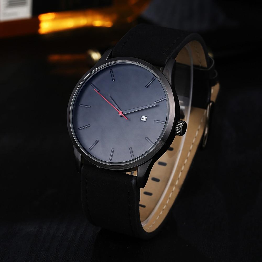 Watches For Men Luxury Leather Strap Sport Watch Men's Quartz Wristwatch Stainless Steel Waterproof Date Clock relogio masculino