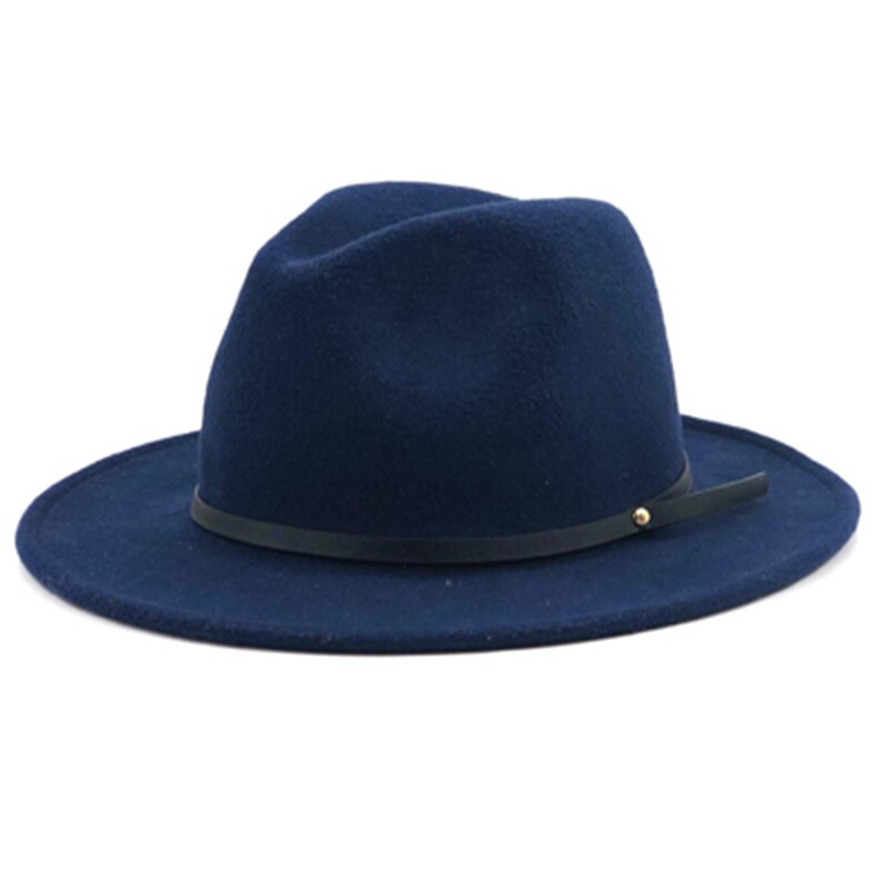 Fedora Hat wool Autumn Winter classic Women Men Gangster Wide Brim Hat Trilby Chapeau Feutre Femme Elegant Church Hats felt Hat