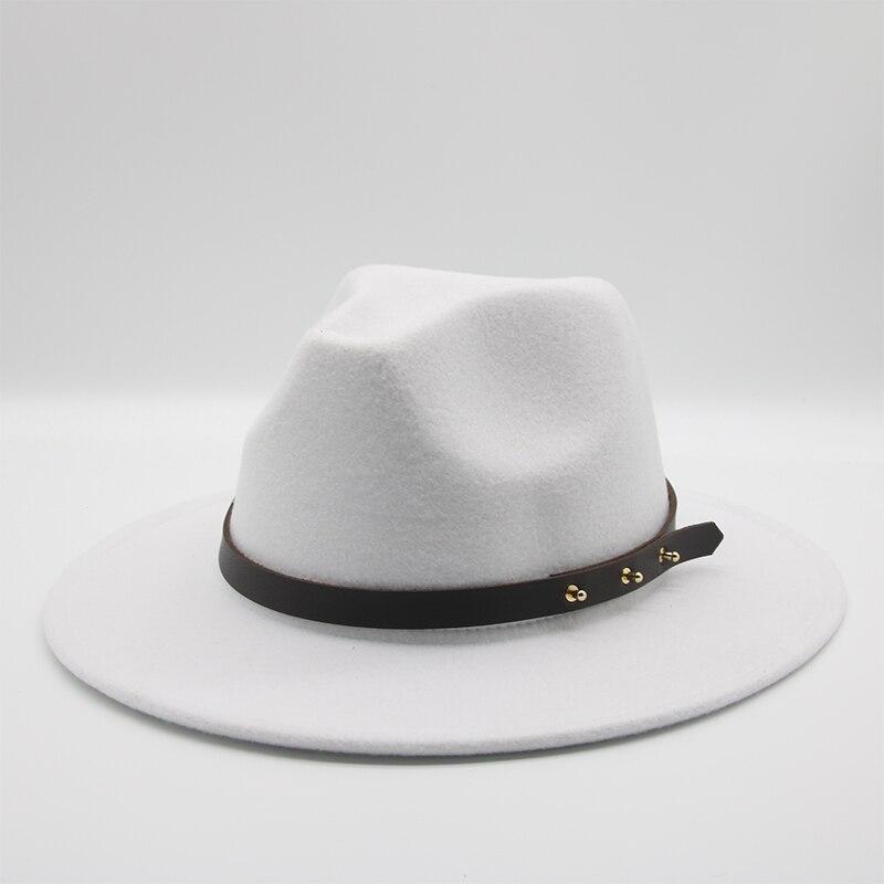 Fedora Hats Vintage Hats for Women Fashion Wide Brim Wool Felt Men Hat Wedding Elegant Kangol Fascinator Church hat new Felt Hat