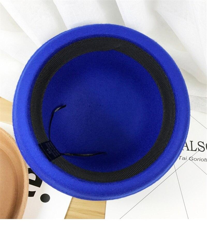 Parent-child bowler crimping classic autumn hat solid Imitation wool felt cute Simple Jazz ladies Women Hats fedora hat for kids