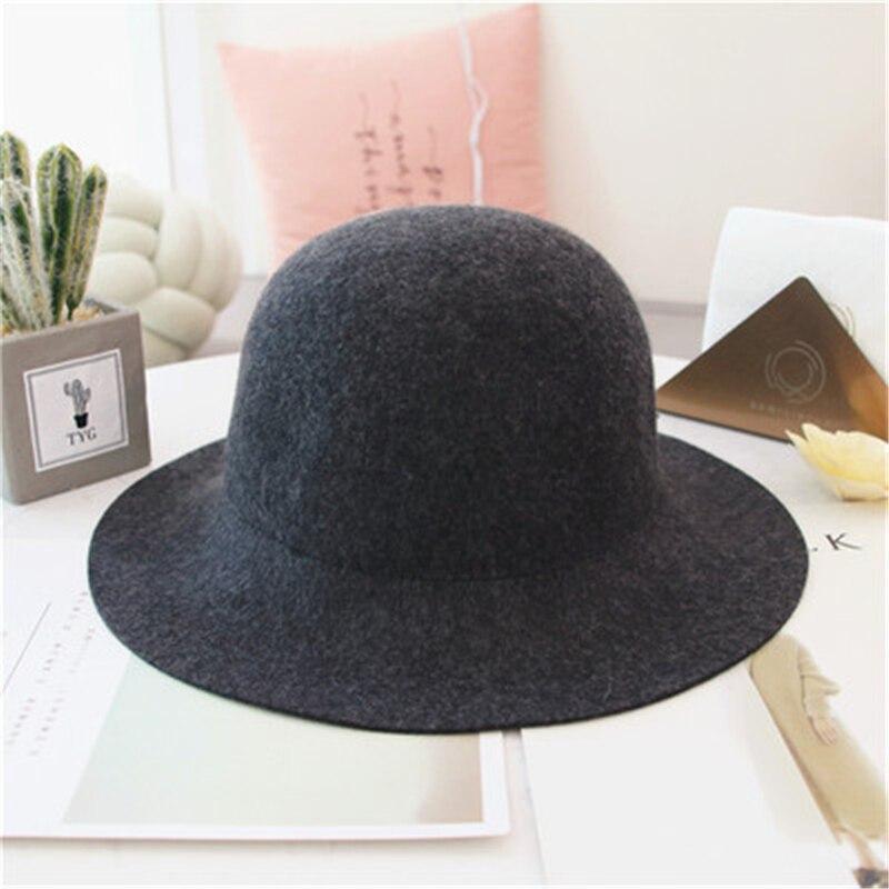 100% wool hat Dome Solid fedora hat women bucket hats fashionable  wedding red chapeu feminino autumn winter bonnet ladies hats