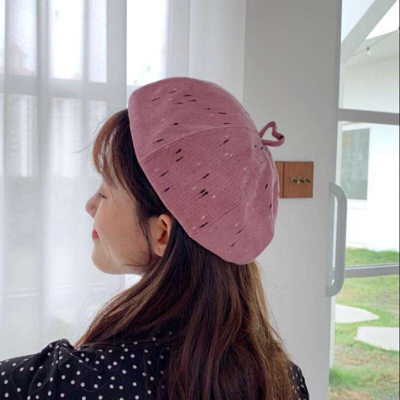 Artist Beret Hat Painter Hat Autumn Winter Ladies Sweet Casual Women Berets Octagonal Cap Beret Hat Female Vintage Women