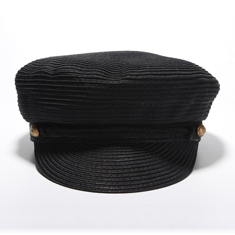 NEW European And American Fashion Women Sun Visor Hats Punk Newsboy Hat Unisex Bowler Cap With Button Decoration Wholesale