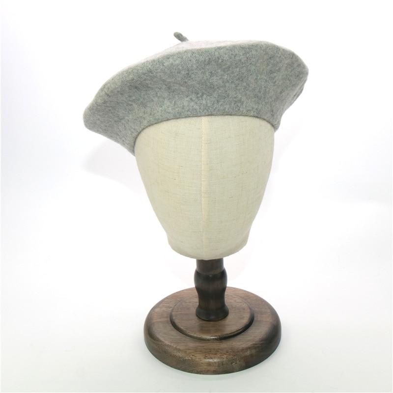 Women Wool Solid Color Beret Female Bonnet Caps Winter Caps  French Artist  Beanie Hat wholesale