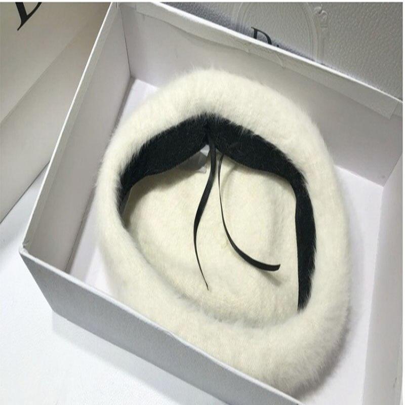 Adjustable Baseball Caps 2019 Fashion Winter Hats for Women Rabbit Hair Baseball Cap Autumn and Winter Empty Top Hat No Top Hat