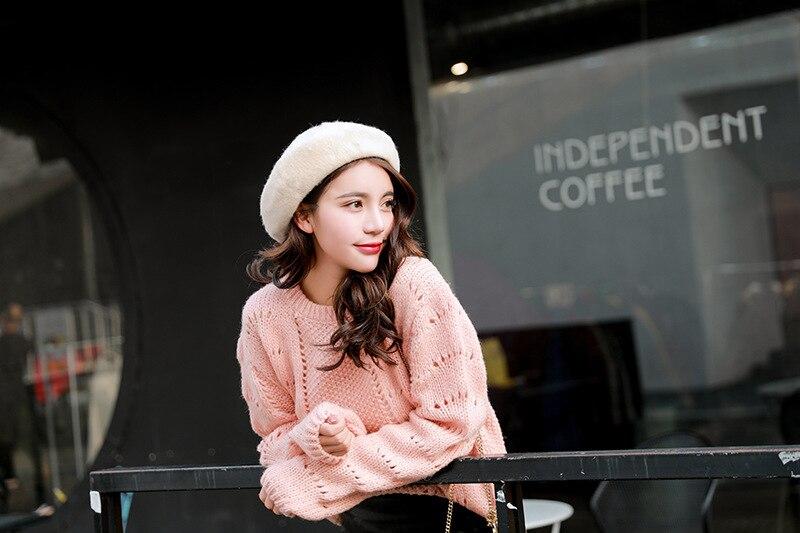 2020 Women's Hats All-match Winter Hat Ladies Solid Color Wool Beret British Retro Pumpkin Hat Painter Hat Fall Hats for Women