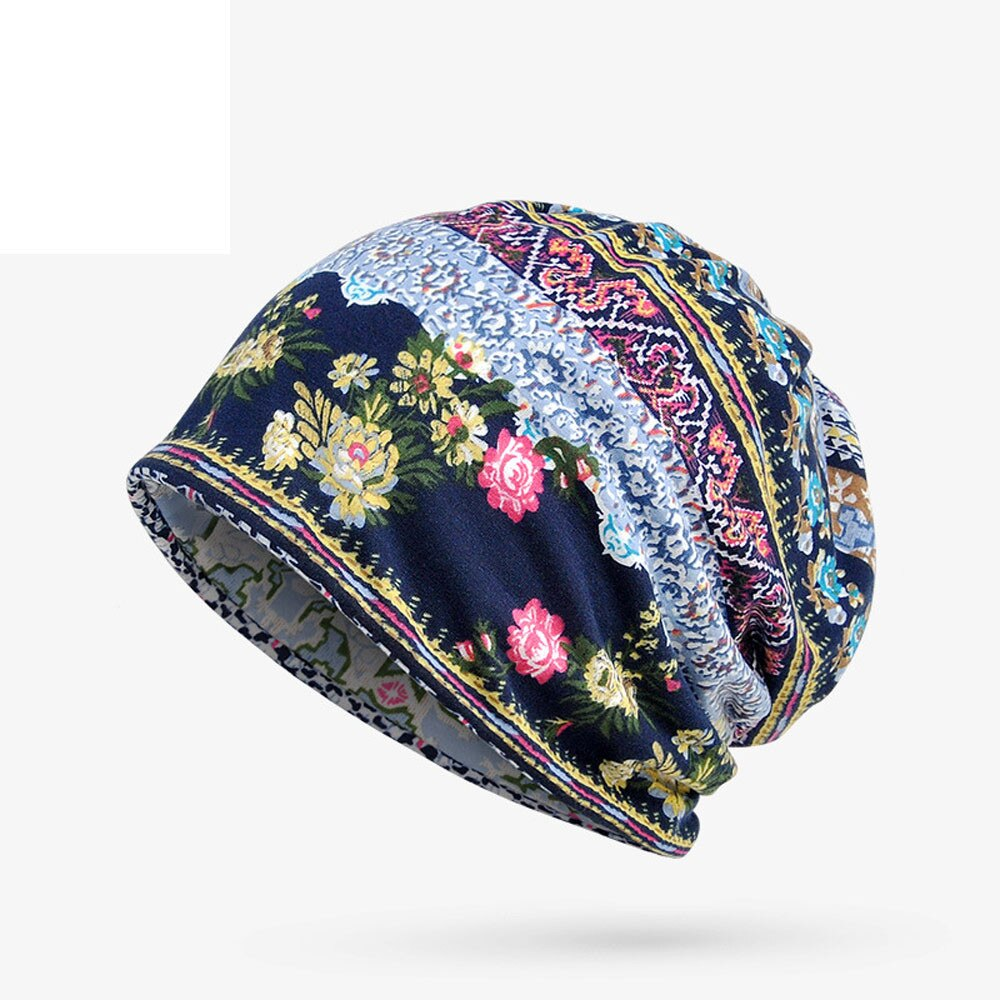 Men Women Double Color Knitted Beanies Caps Winter Autumn Warm Cover Pile Up Skullies Hats Unisex Elastic Windproof Hat Retro
