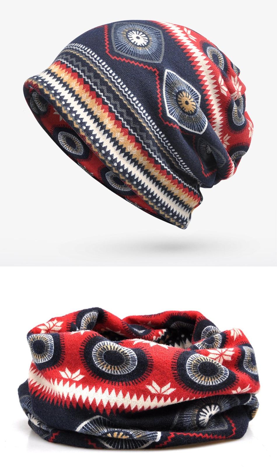 FS Winter Soft Warm Skullies Beanies Hip Hop Hat Men Elastic Hats Green Red Trendy Streetwear Scarf Bonnet For Women Cycling Cap