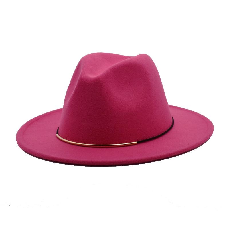 FUODRAO New Fashion Fedoras For Women Spring Wool Hats Men Black Jazz Caps Wide Brim Gentleman Elegant Chapeau Femme F14