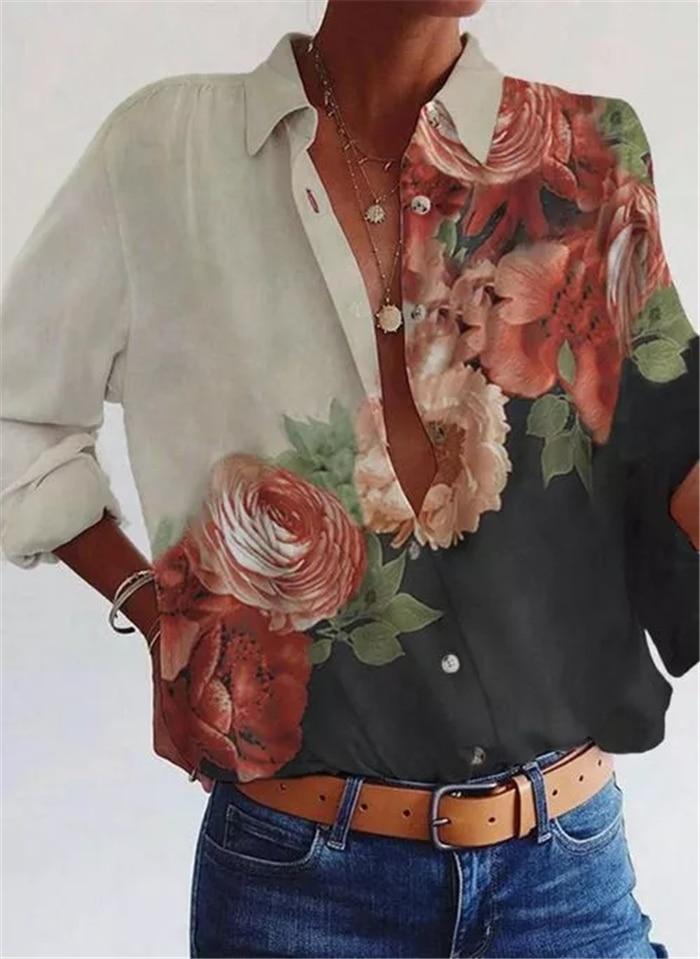 Long sleeve shirt woman Fashion new shirt loose big size temperament casual top