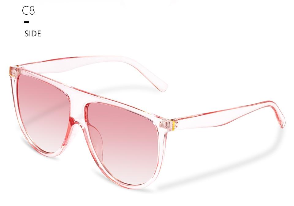 Kim Kardashian sunglasses women vintage retro flat top Shadow oversized square sunglasses luxury brand large shades sun glasses