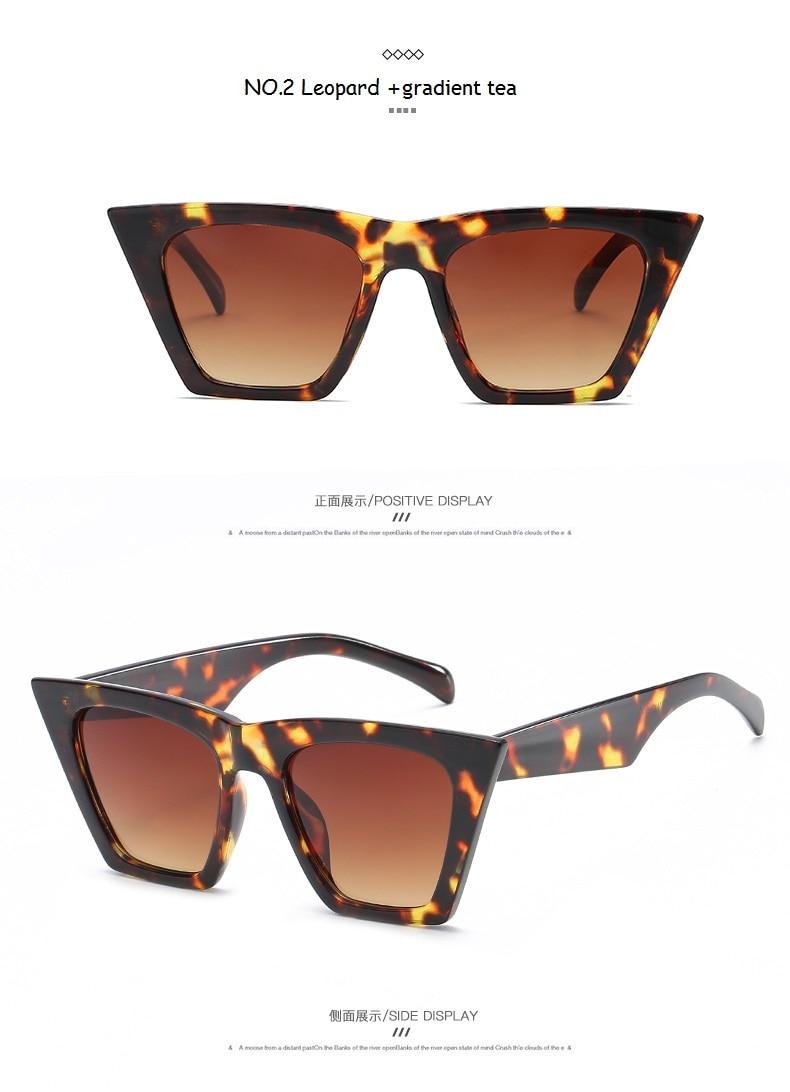 2020 Retro Cat eye Sunglasses Women Brand Design Vintage Lady Sunglass Black okulary Sun glasses UV400 lunette soleil femme