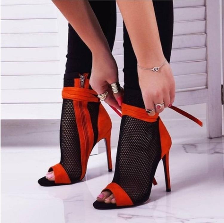 Eilyken 2020 New Sexy Women's High Heels Peep-toe Sandals Stiletto Sandals Summer Club Shoes Women's Party Boots and Sandals