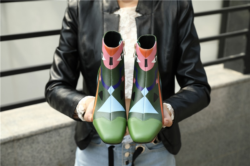 FEDONAS Fashion Brand Women Ankle Snow Boots Warm High Heels Ladies Shoes Woman Party Wedding Pumps Basic Genuine Leather Boots