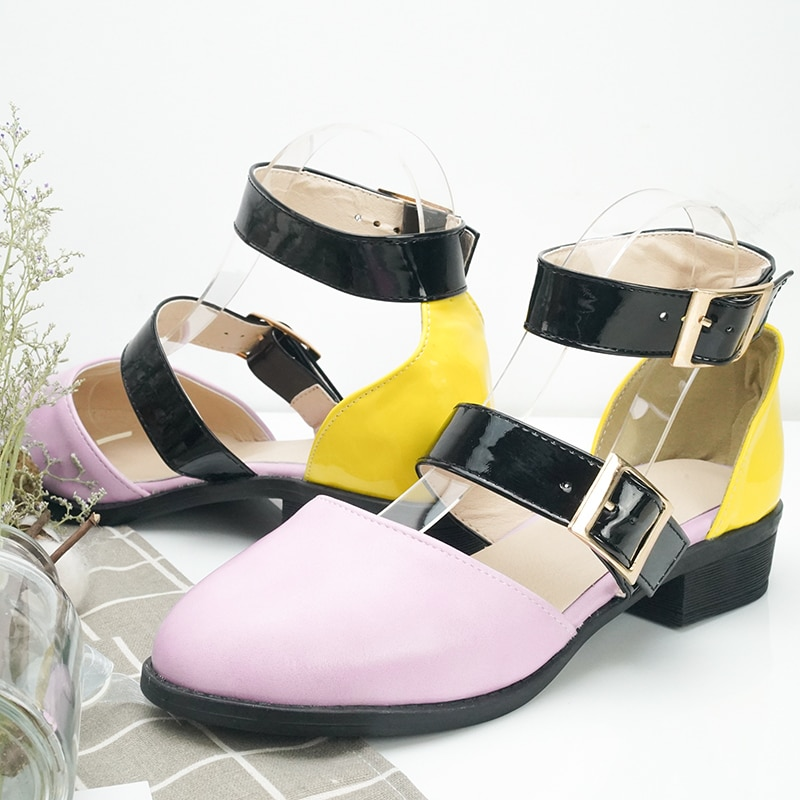 New Women Sandals New Female Shoes Woman Summer Buckle Strap Comfortable Sandals Ladies Slip-on Flat Sandals low heel sandals
