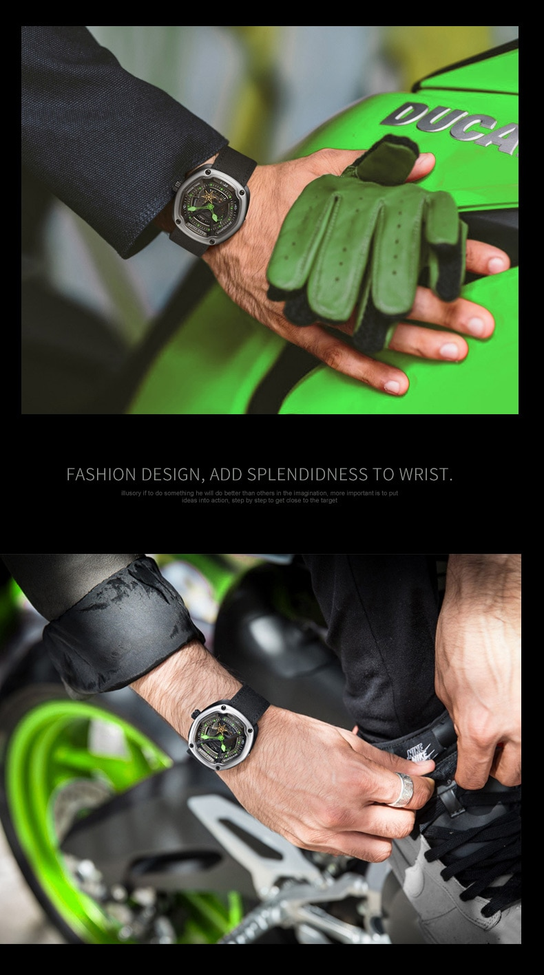 Reef Tiger/RT Enjoy Your Live Style Dive Watch Luminous Top Brand Automatic Watches Nylon/Leather/Rubber Available RGA90S7