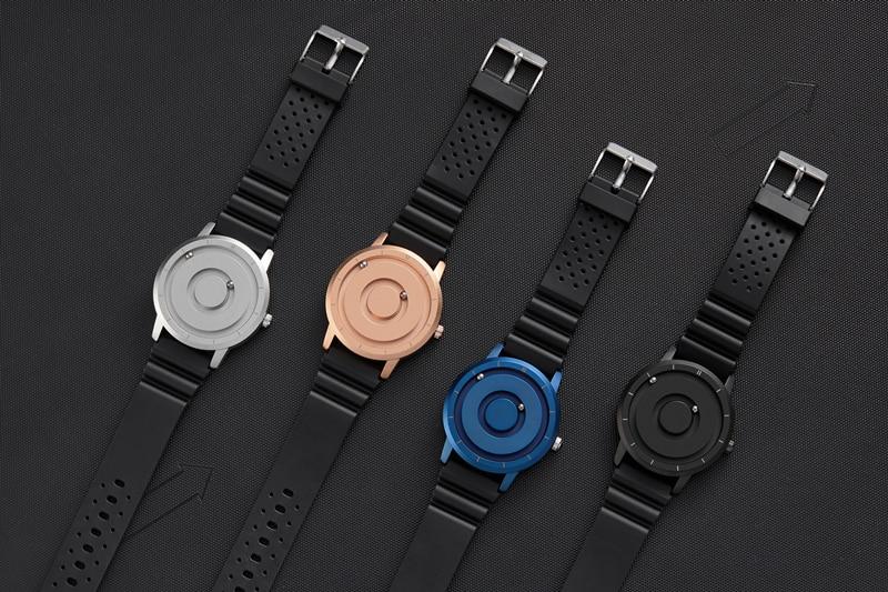 Unique Gear Turntable Watch Men Magnet Beads Dial Wristwatch Black Resin Band Creative Quartz Male Clock relogio masculin