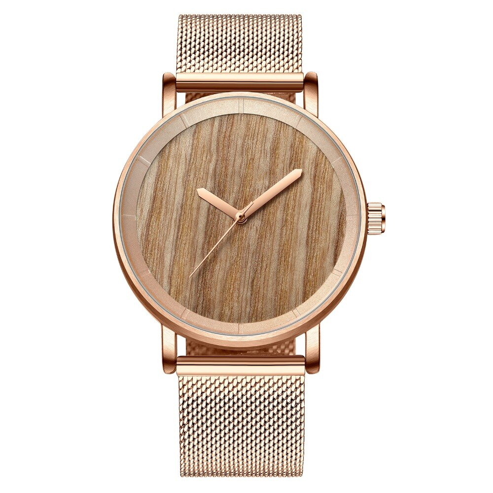 Luxury Men Watch Fashion Minimalist Wooden Bezel Quartz Watch Ultra Thin Stainless Steel Watch for Male relogio masculino