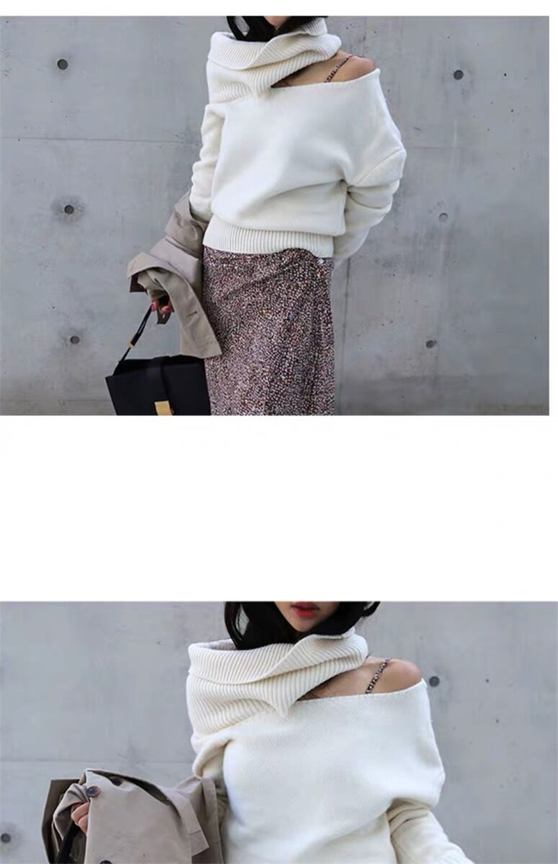 BGTEEVER 2019 Winter Turtleneck Women Sweater Fashion Hollow-out Female Knitted Pullovers Women Knitted Jumper Tops pull femme