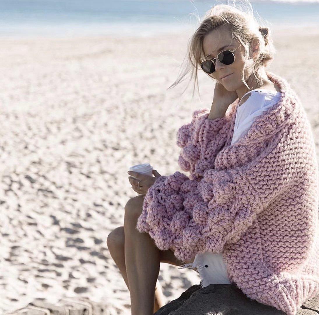 DUOUPA  Coarse Knitted Sweater Women 2019 AUTUMNWinter Fashion Lantern Sleeve Cardigan Female Open Front Korea Sweater Coat