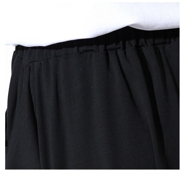 [EAM] High Quality 2020 Spring Fashion New Loose Casual High Elastic Waist Black Harem Pants Women's Trouser All-match YC79501