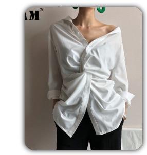[EAM] 2020 New Spring Autumn High Elastic Waist Black Pocket Split Joint Leisure Loose Harem Pants Women Trousers Fashion JS499