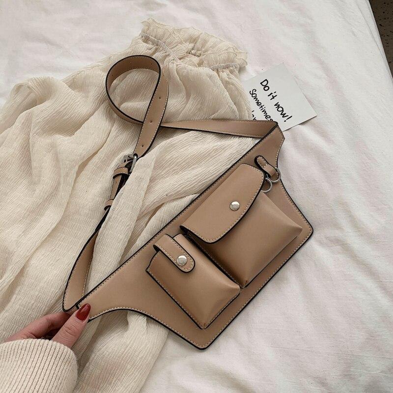 Waist Bag Luxury Handbag Women Purse Designer Leather Crossbody Chest Bag Functional Bum  Fanny Pack Ladies Belt Bags Bum Pouch