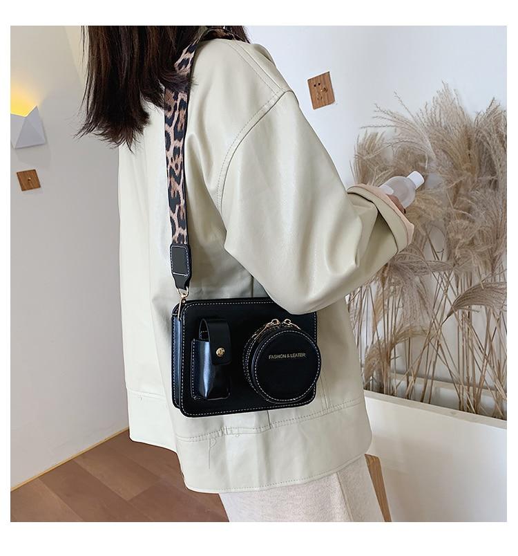 Vintage Camera Shape Women Shoulder Bags designer Wide Straps Shoulder Bags luxury pu leather crossbody Bag Female Purse Bolso