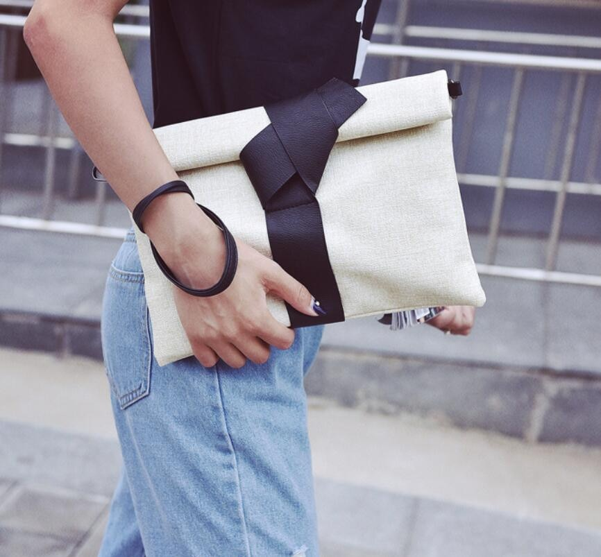 HIGHREAL Women Day Clutches Bow Leather Crossbody  Messenger Bags Ladies Envelope Evening Party Bag Designer Handbags