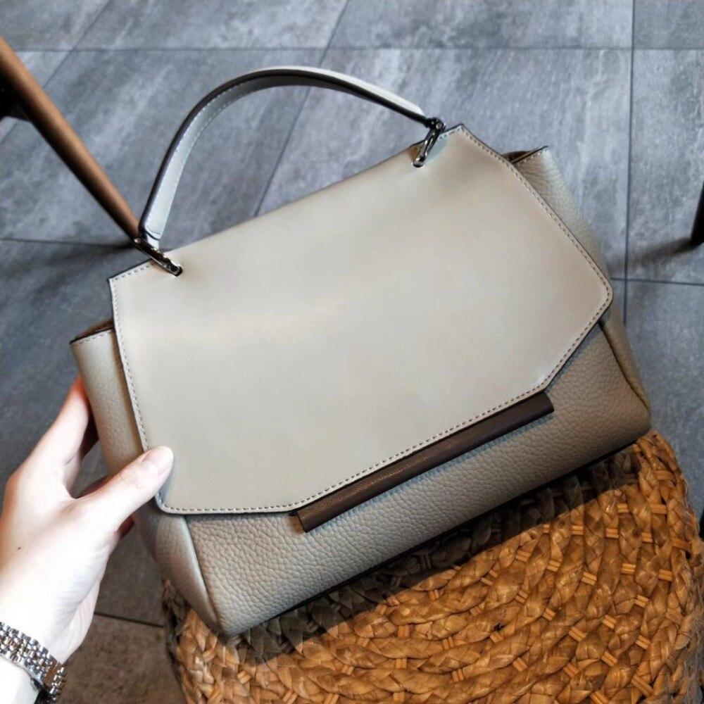 2020 Genuine Leather Women Totes Handbags Vintage Designer Handbags for Women High Quality Shoulder Bags Ladies HandBags