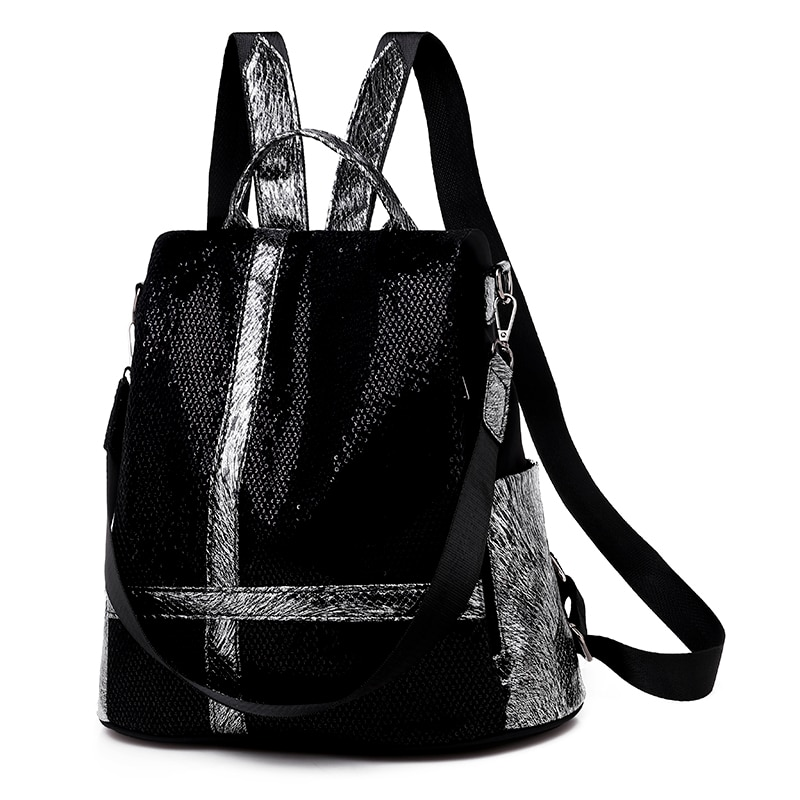 2020 new luxury backpack female designer fashion wild female backpack non-woven sequins high quality casual bag large capacity