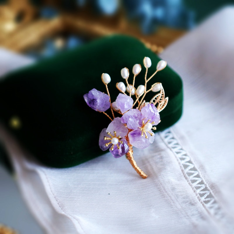SINZRY new handmade natural freshwater pearl stone flower brooches elegant lady dress jewelry accessory