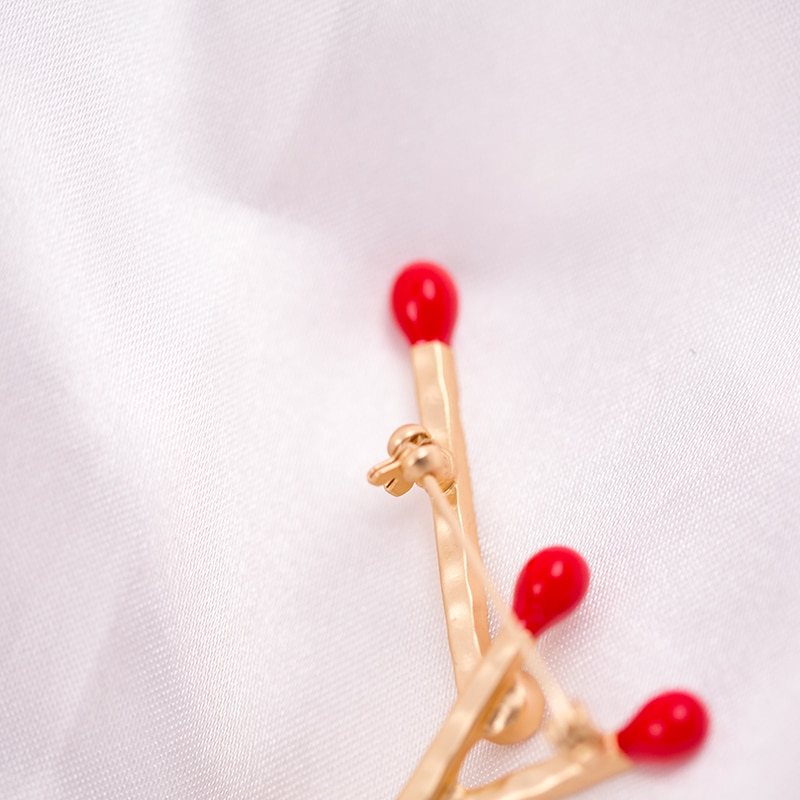 Vanssey Fashion Jewelry Red Match Light My Fire Austiran Rhinestone Enamelled Brooch Pins Accessories for Women 2019 New