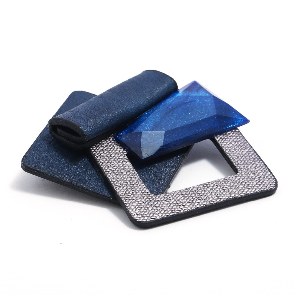 Acrylic Brooch Fashion Leather Designer Vintage Pin Brooches For Women Wholesale Brooches Handmade Hot Sale Fashion Jewelry