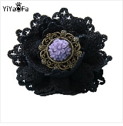 YiYaoFa Handmade Cute Bean Sprout Brooch Antique Corsage Pin Antique Buckle Retro Women Accessories Party Jewelry YBR-18