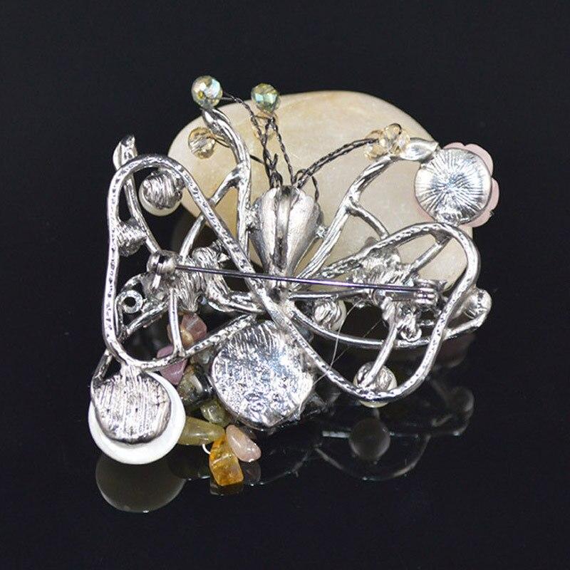 JUJIE Vintage Pearl Butterfly Brooches Bijoux Wedding Bouquets Fashion Jewelry