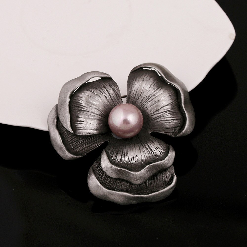 JUJIE Vintage Imitation Pearl Antique Flower Brooches For Women Lucky Retro Brooch Wedding Bouquets Fashion Jewelry Dropshipping