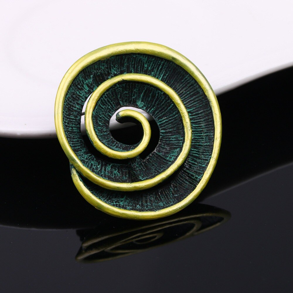 JUJIE Vintage Screw Matel Brooches For Men 2019 Original Round Lapel Booch Pins Geometric Jewelry Dropshipping