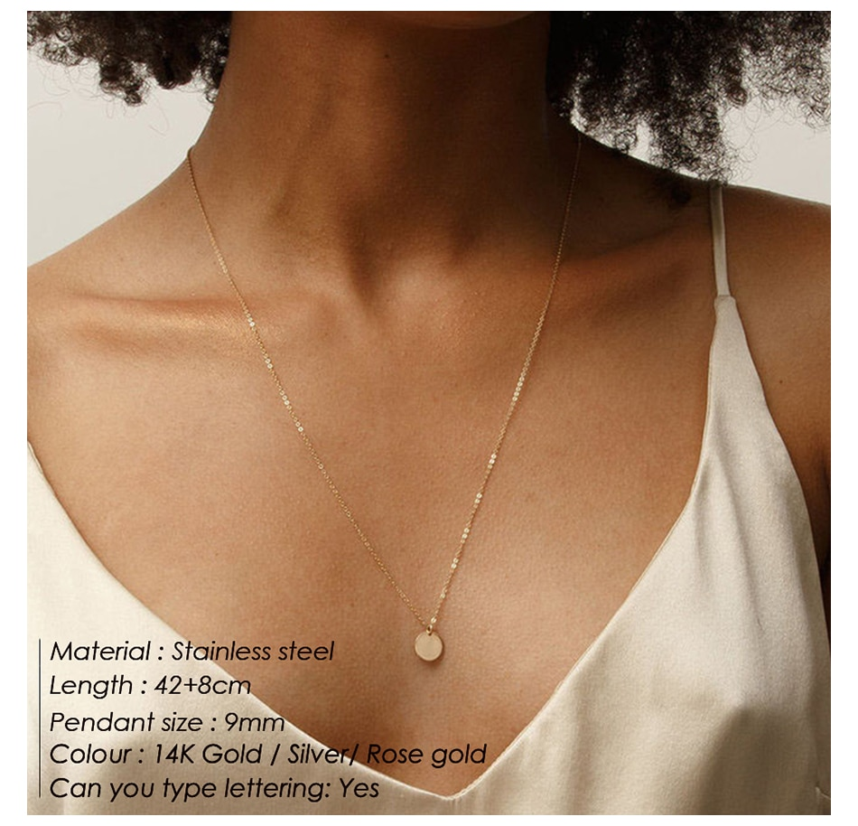 eManco 3pcs Separated stainless steel layered necklace women pendant & choker & chain necklace set fashion jewelry