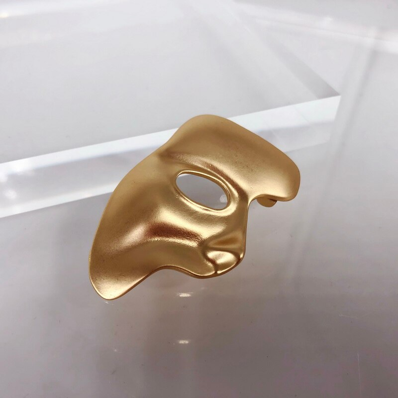 F.J4Z Hot Women Brooches Classic Mask Human Face Pin Brooch Ladies Pins for Coat Hat Scarf Girl's Custome Accessories wholesale