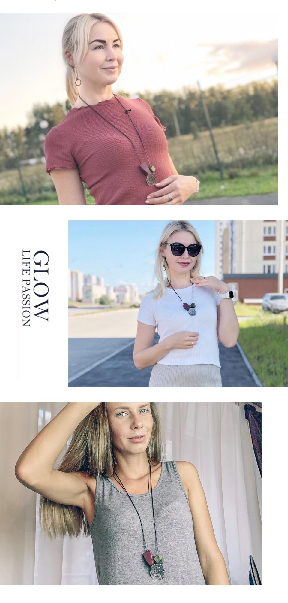 Vintage Necklaces & Pendants Handmade Statement Necklace Rop Pendant Festival Present For Friends Fashion Jewelry 2019 3.5*7.5cm