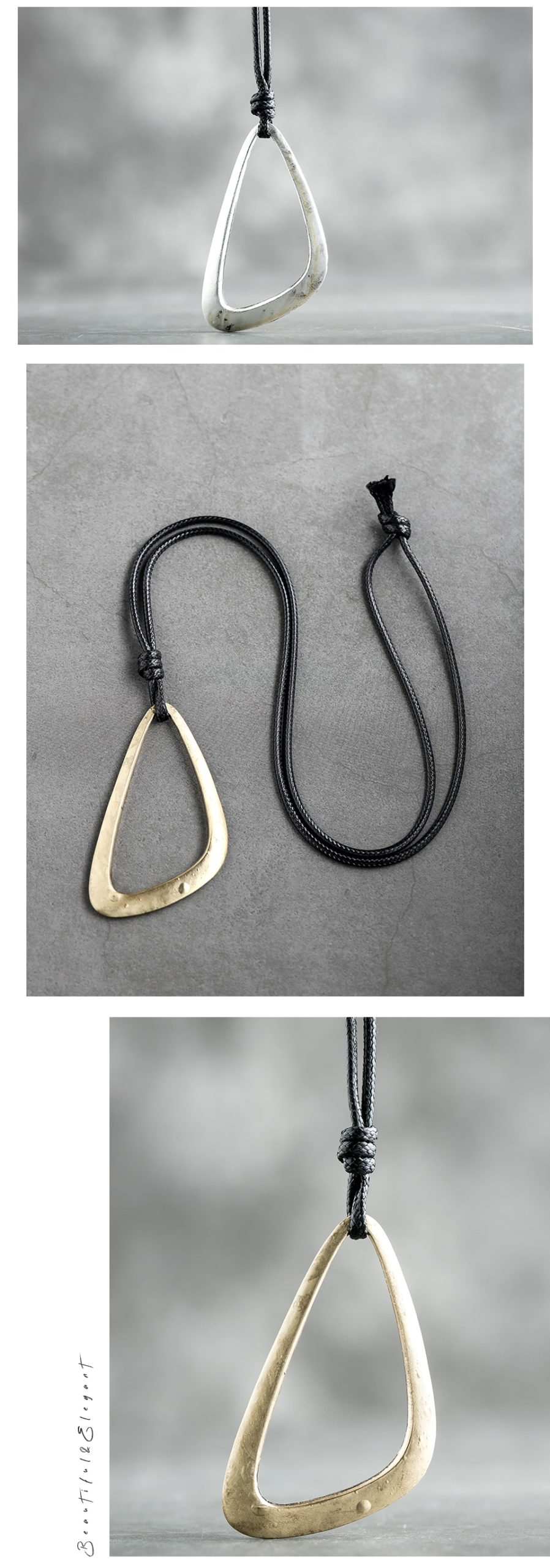 Vintage Jewelry Long Necklaces for Women Triangle Pendant suspension jewellery Statement necklaces & pendants Chokers 2020 New