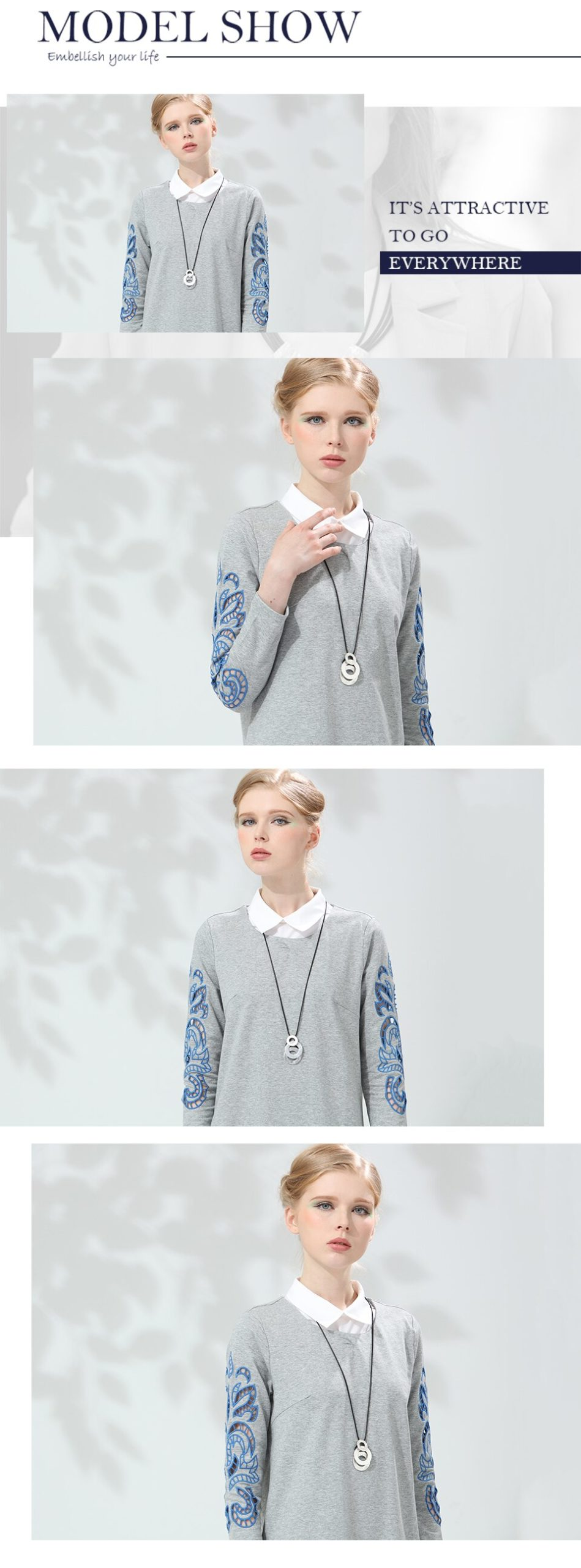 Zinc Alloy Necklaces&Pendants Rope Sweater Chain Simple Necklaces Handmade Fashion Christmas Jewelry Trendy Necklaces Wholesale