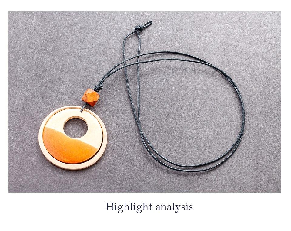 Round Long Chain Necklace for Women Vintage Jewelry Choker Simple Pendants Accessories Female Suspension Decoration Wholesale