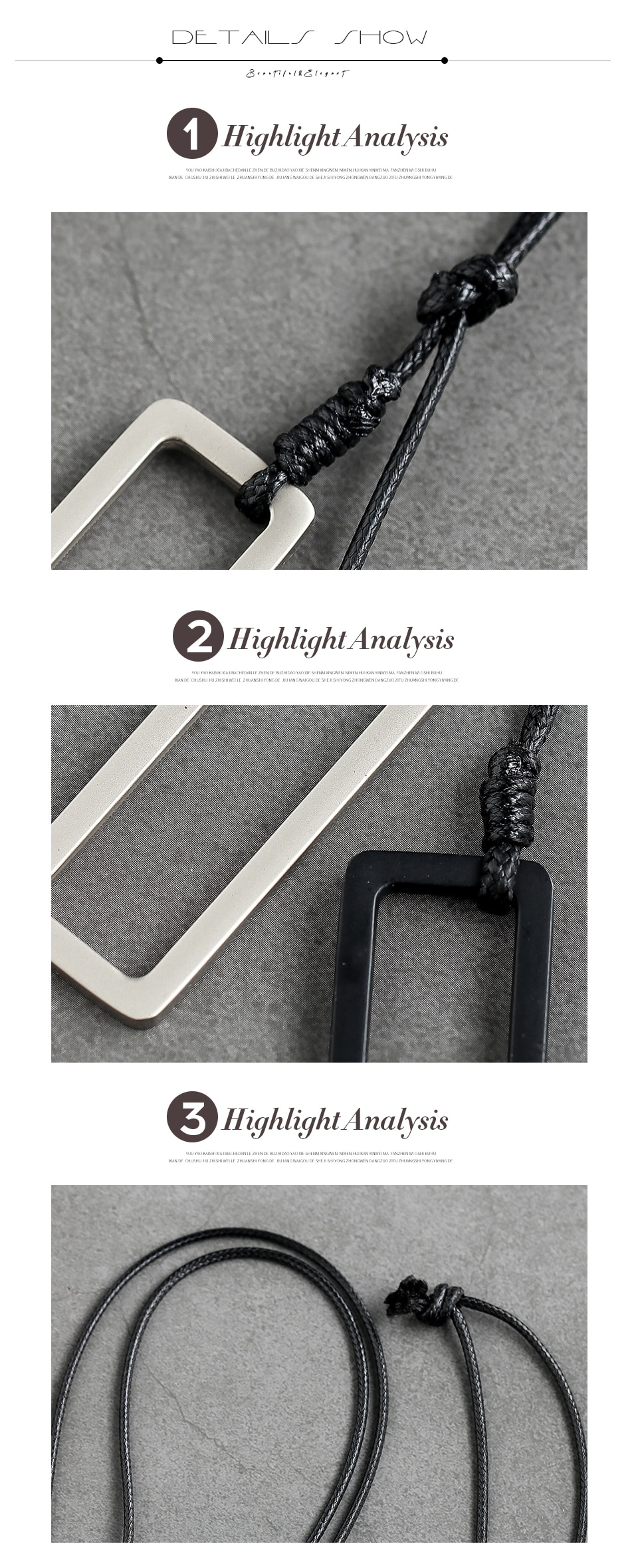 Unique Design Pendants Necklace Vintage Simple Necklace Gifts For Women Handmade Sweater Rope Chain Necklace Jewelry Accessorie