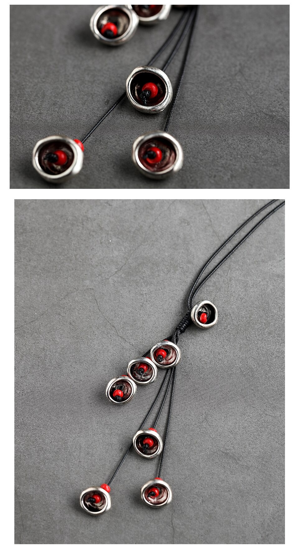 Statement Necklace Red Women Choker Necklace Sweater Accessories Collier Femme 2018 Best Friends Pendant Gifts For Decoration