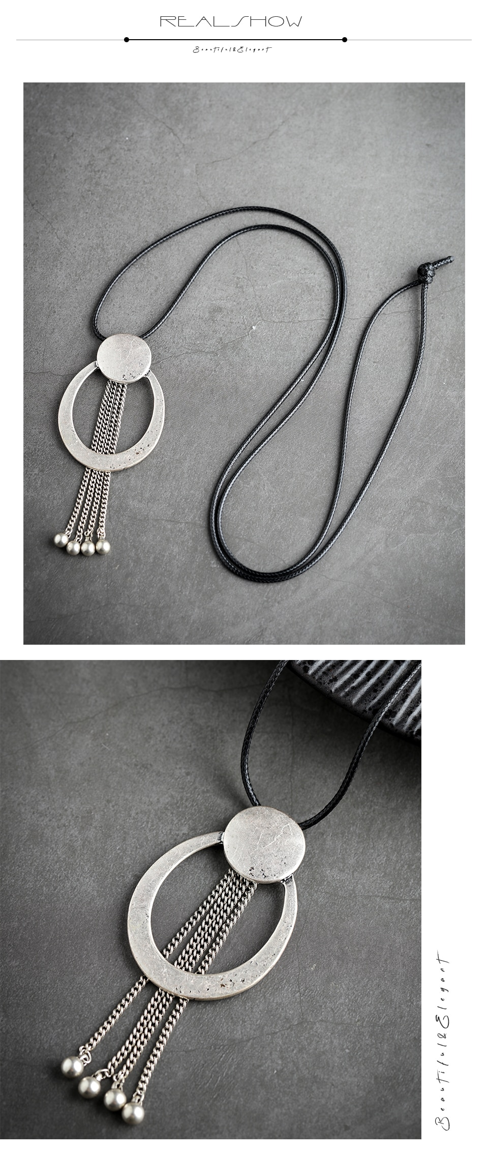 Long Necklace for Women Chokers Vintage Rope Chain suspension 2020 New Tassel Statement Necklaces & Pendants Women's  Jewellery