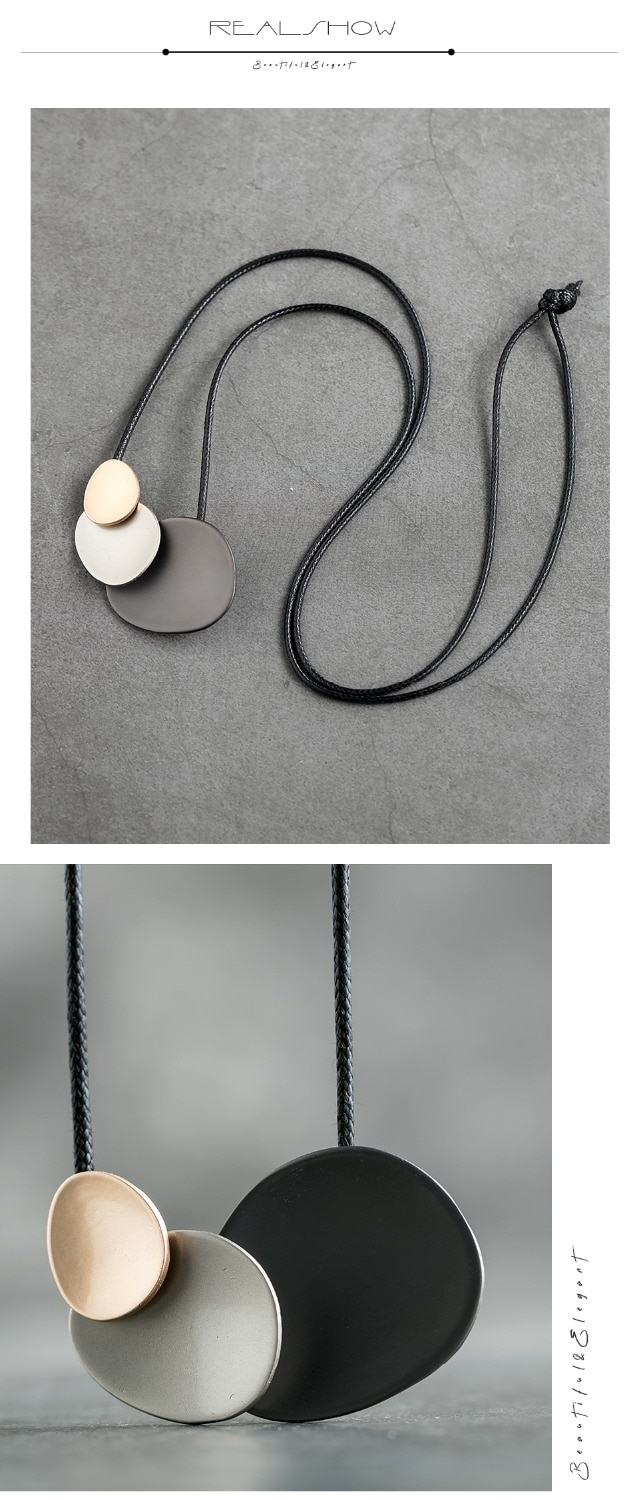 Hotsale Long Necklace Bohemian Necklaces Women 2019 New Vintage Handmade Pendant For Women Gifts Jewelry  Accessories
