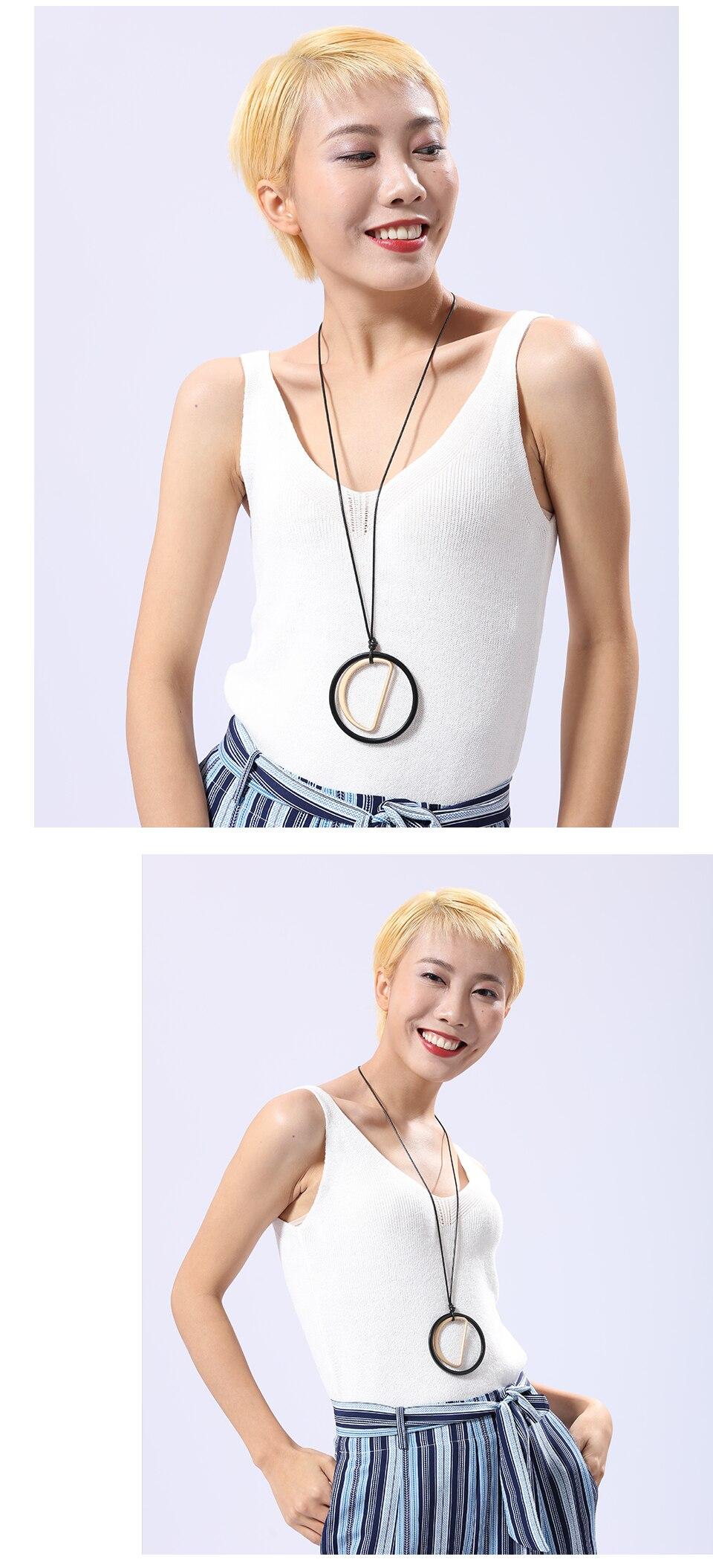 Zinc Alloy Charm Pendant Metal Chain Geometric Women Big Necklaces Fashion Jewelry Bohemian Necklace Christmas Jewelry H701